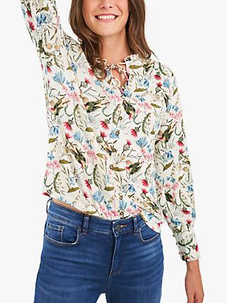 White Stuff Joan Nature Print Blouse, Multi