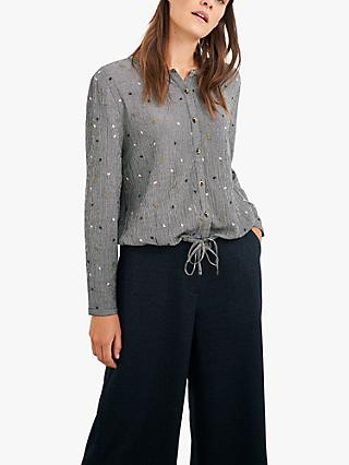 White Stuff Olive Embroidered Shirt, Grey/Multi