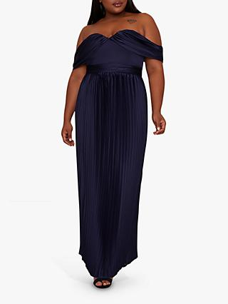 Chi Chi London Curve Calie Formal Dress, Navy