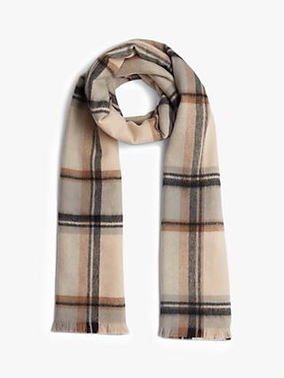 Jigsaw Check Wool Scarf, Multi
