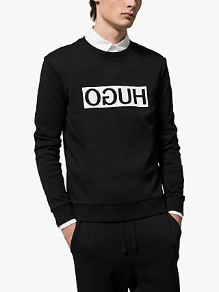 HUGO Dicago Logo Sweatshirt, Black