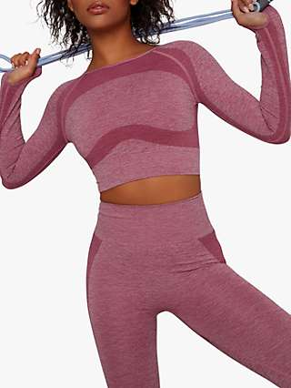 Chi Chi London Activewear Beck Cropped Sports Top, Pink