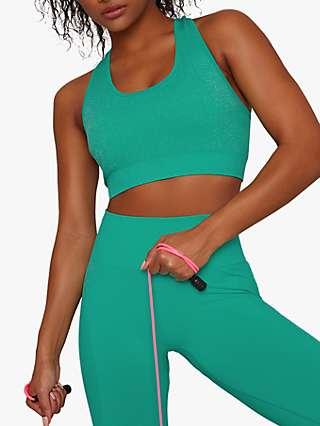 Chi Chi London Activewear Ava Sports Bra, Green