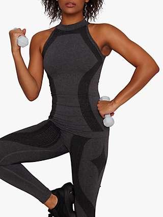 Chi Chi London Activewear Erin Sports Top, Black