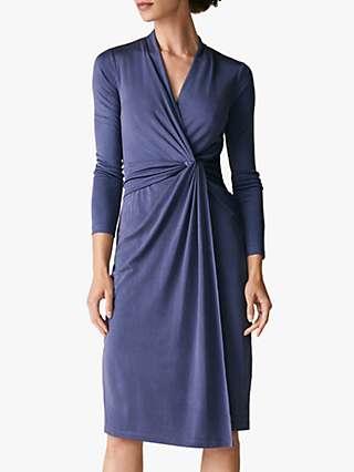 The Fold Greenwich Silk Dress, Grey