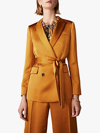 The Fold Almeida Satin Jacket, Toffee