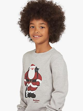 Barbour Girls' Santa Cotton Jumper, Grey