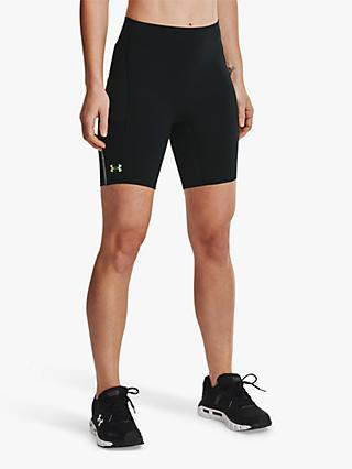 Under Armour Rush Run Pocket Compression Shorts, Black