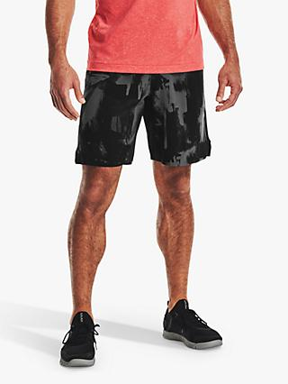 Under Armour Reign Abstract Woven Running Shorts, Black