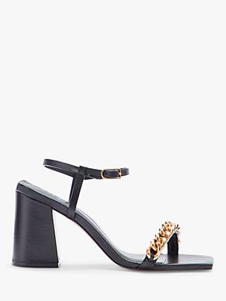 Jigsaw Parnel Chain Sandals, Black