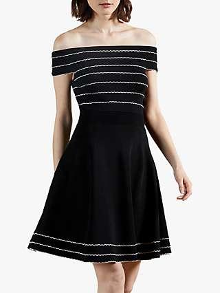 Ted Baker Maisiie Bardot Dress, Black