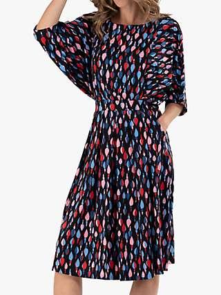 Jolie Moi Batwing Jersey Dress, Multi