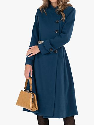 Jolie Moi Longline Button Flared Coat