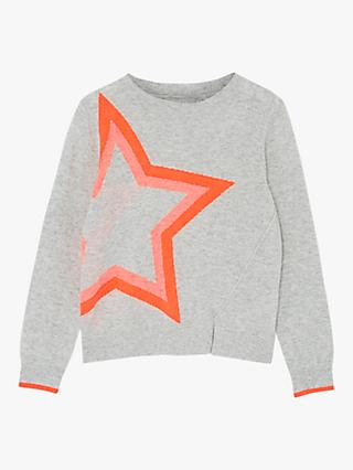Mintie by Mint Velvet Girls' Star Jumper, Grey