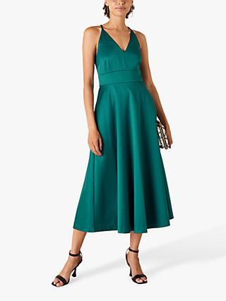 Monsoon Stevie Midi Dress, Teal
