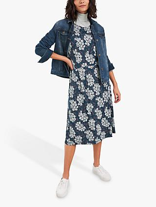 White Stuff Aiken Floral Midi Dress, Navy/Multi
