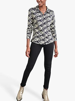 White Stuff Loganberry Floral Print Shirt, Grey/Multi