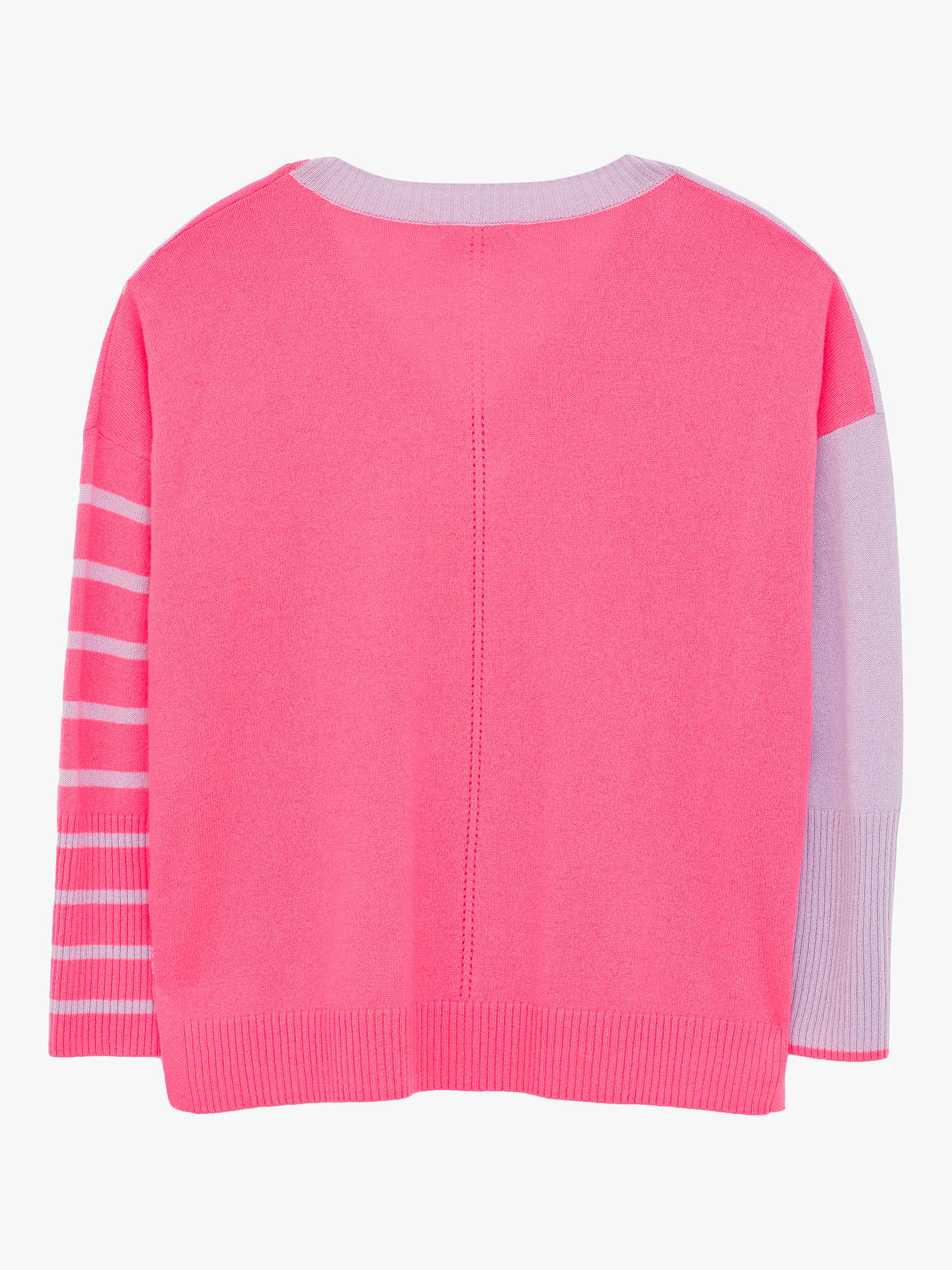 Buy White Stuff Vale Stripe Cashmere Jumper, Bright Pink, 10 Online at johnlewis.com