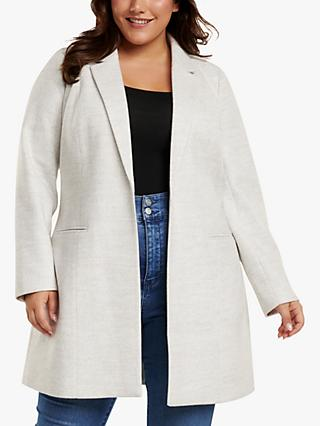 Forever New Curve Mika Coat, Grey Marl