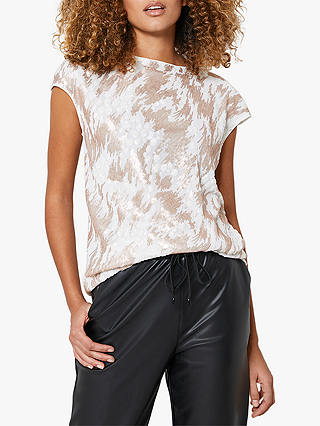 Buy Mint Velvet Animal Embellished Short Sleeved Top, Light Pink, 14 Online at johnlewis.com