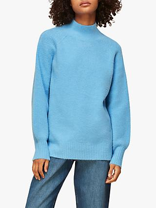 Whistles Full Sleeve Knitted Jumper, Blue