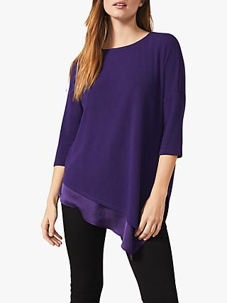 Phase Eight Maisha Asymmetric Hem Top, Purple