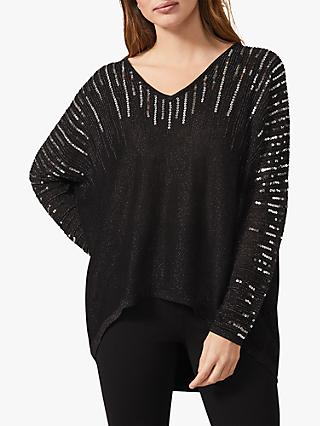 Phase Eight Jouri Embellished Knit Top, Gunmetal