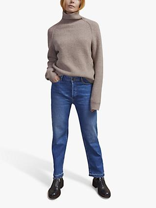Jigsaw Merino Wool Fisherman's Rib Jumper