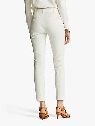 Polo Ralph Lauren Slim Straight Trousers, Warm White