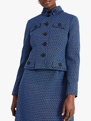 Damsel in a Dress Sabri Tweed Jacket, Black/Blue