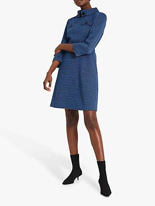 Damsel in a Dress Sabri Tweed Dress, Black/Blue