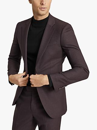Reiss Lazer Wool Slim Fit Suit Jacket, Plum