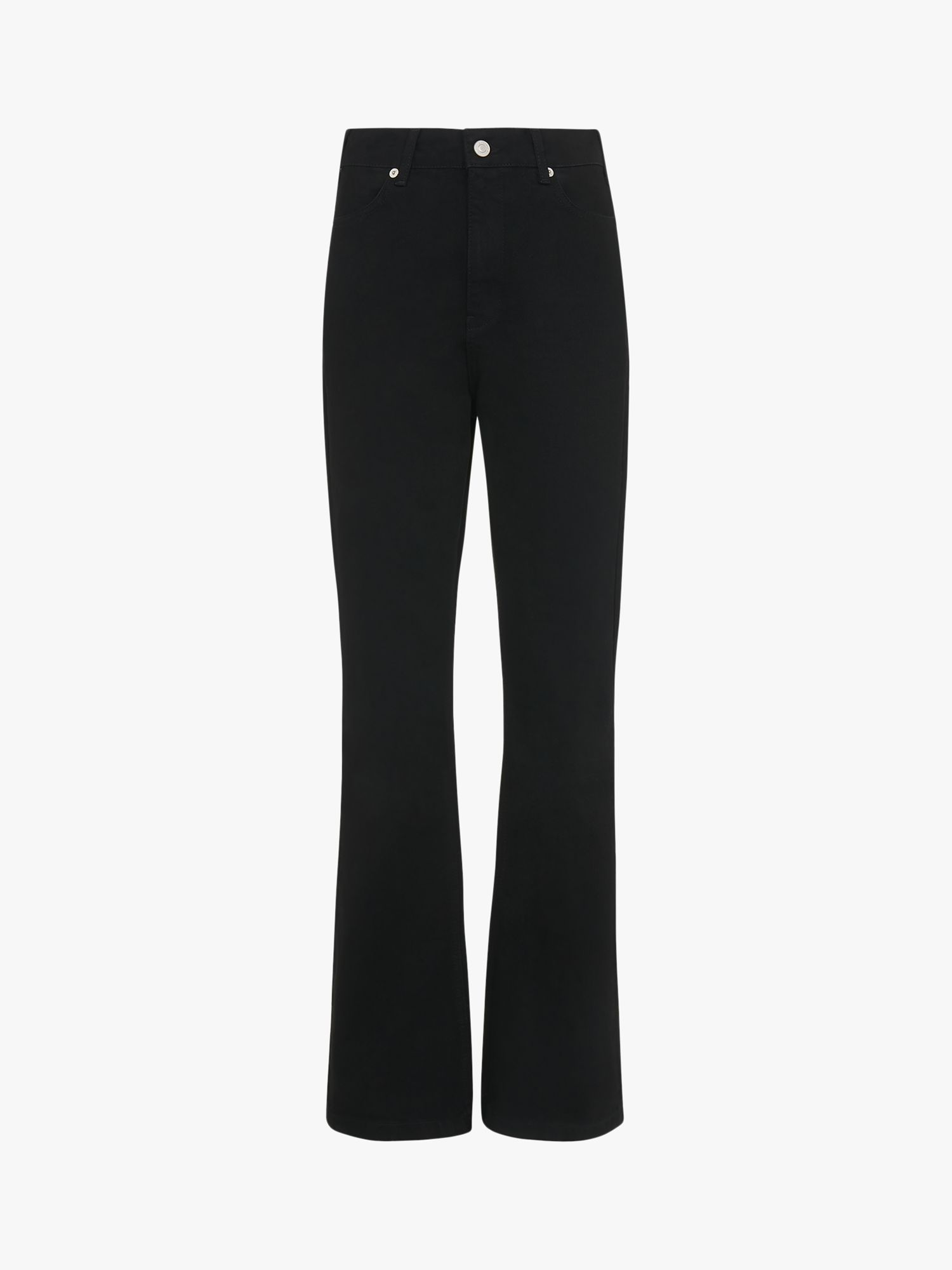Whistles Authentic Flared Jeans, Black