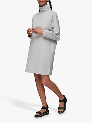 Whistles Funnel Neck Jumper Dress, Grey Marl