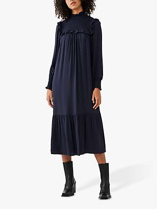 Ghost Harry Winter Crepe Midi Dress