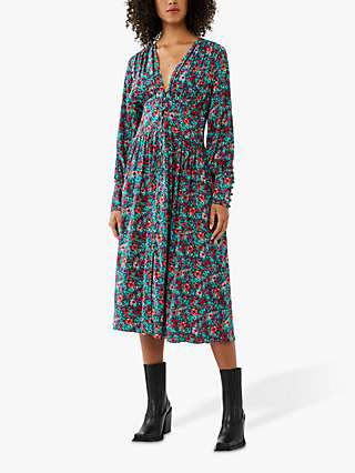 Ghost Joss Floral Midi Dress, Multi