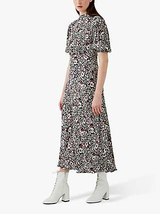 Ghost Luella Floral Midi Dress, Folk Scatter
