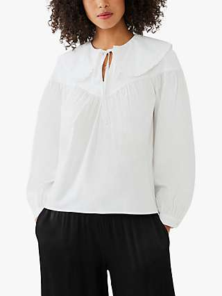 Ghost Daisy Peter Pan Collar Blouse, White