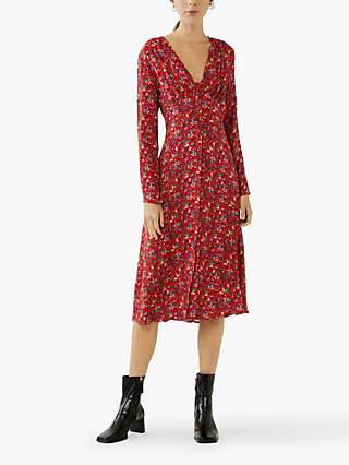 Ghost Saffron Floral Midi Dress, Aztec