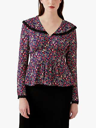 Ghost Bay Shawl Floral Top, Paisley Ditsy