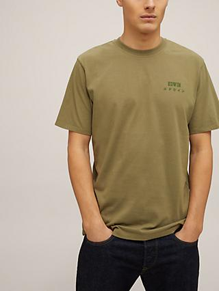 Edwin Logo Short Sleeve T-Shirt, Martini Olive