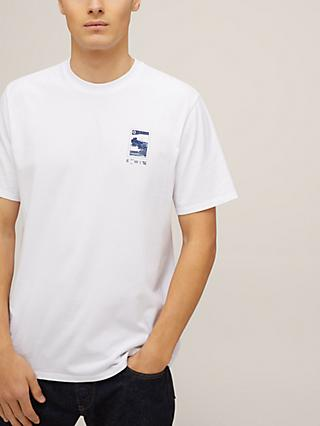Edwin Fuji Scenery Cotton T-Shirt, White