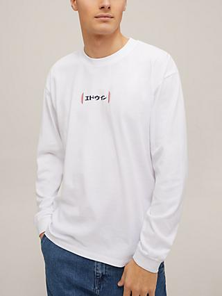 Edwin Aurora Long Sleeve T-Shirt, White