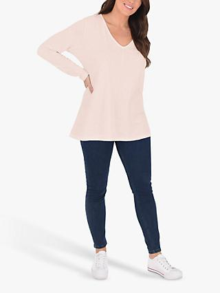 Live Unlimited Pure Cotton Jersey Top, Dusty Pink