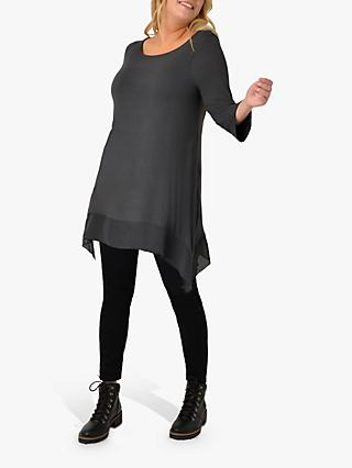 Live Unlimited Curve Hanky Hem Jersey Top, Dark Grey