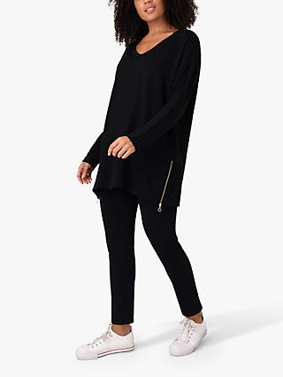 Live Unlimited Curve Sweat Tunic Top, Black