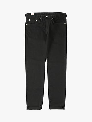 Edwin Made in Japan Slim Fit Tapered Jeans, Kaihara Black