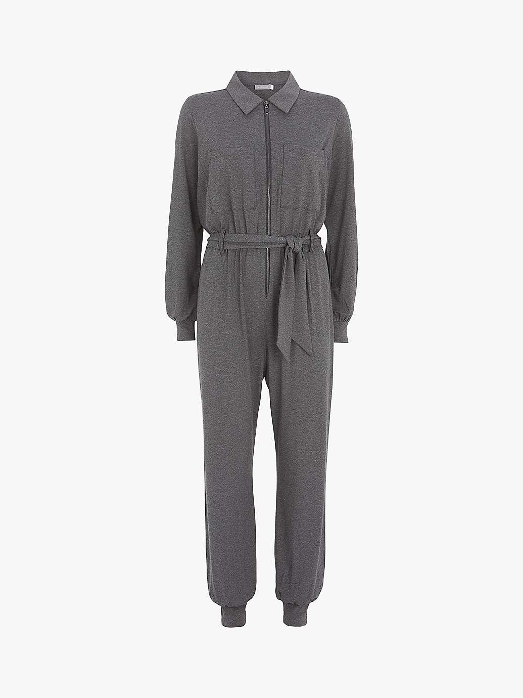 Zip Up Jumpsuit Grey