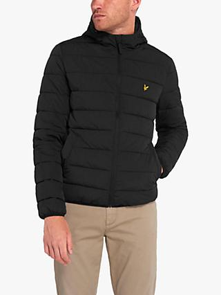 Lyle & Scott Lightweight Puffer Jacket, Jet Black