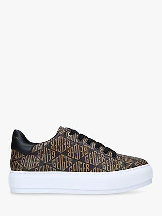 Kurt Geiger London Laney Monogram Chunky Trainers, Mid Brown